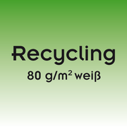 Briefbogen – 80 g/m²  Recyclingpapier